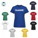 T-Shirt Hummel Femme Hmlgo Cotton Logo S/S Polyester