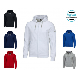 Equipement Club-sweat zippé a capuche wire errea