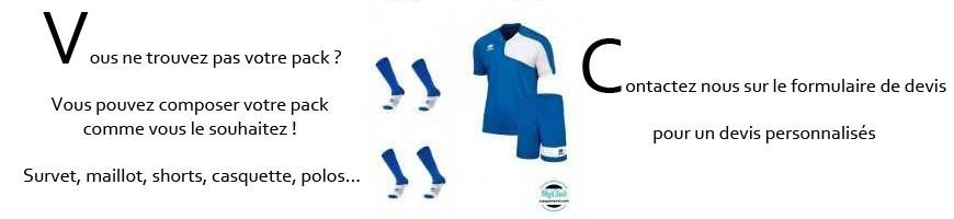 Pack Clubs de foot, jeu de maillots de foot
