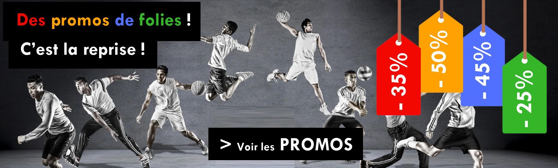 Promo reprise equipement sportif personnalisable